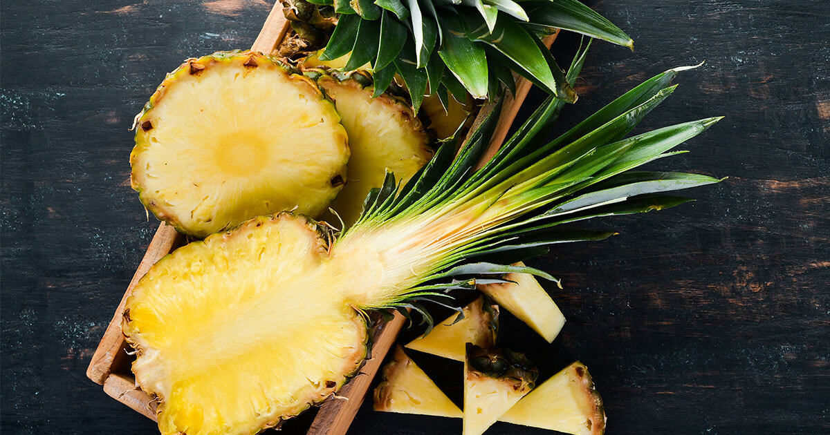 Digestive enzymes in pineapple